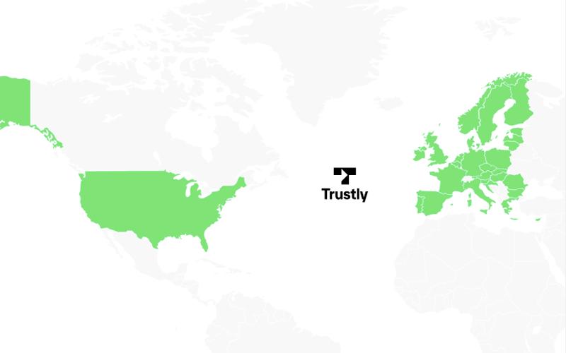 In welke landen is Trustly beschikbaar?